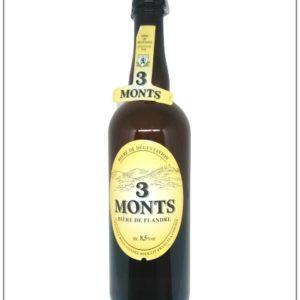 bouteille 75 cl de bière blonde du Nord : la 3 monts