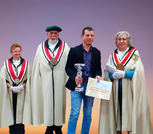 remise du grand prix d'honneur au concours du meilleur boudin blanc