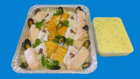 plat de choucroute de la mer aux 3 poissons pour 6 personnes