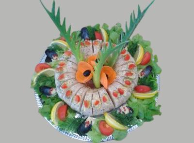 turban de sole au médaillon de saumon